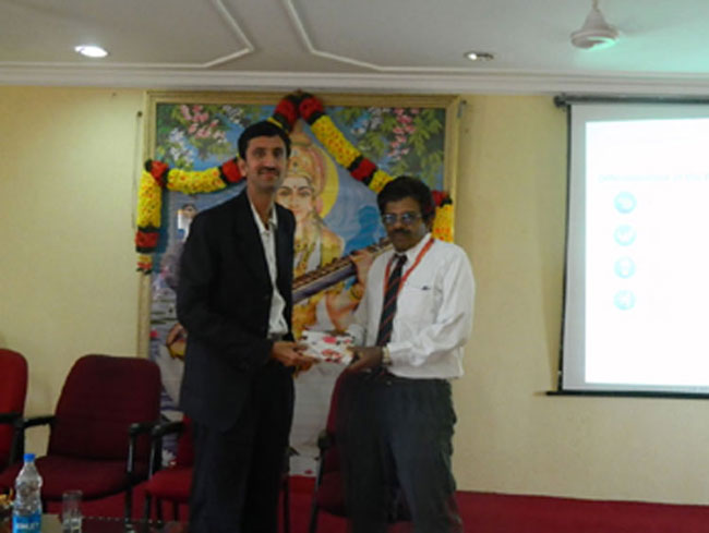 Guest Lecturer on Project Management - Operations, by Mr. Venugopal Bhuvanagiri, Wipro