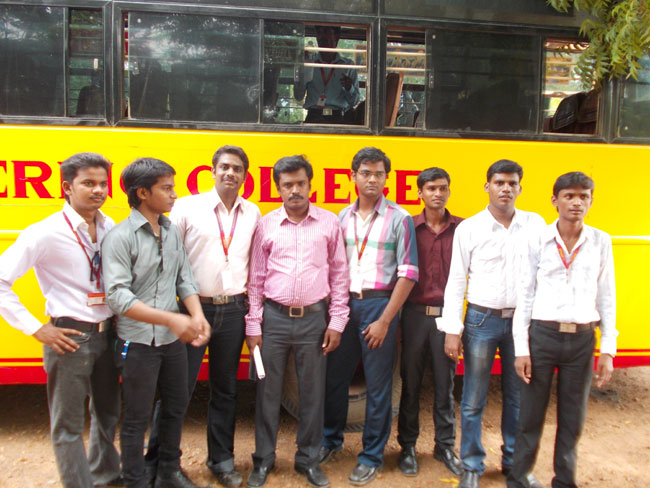 Industrial visit to Neyveli by EEE - III year students