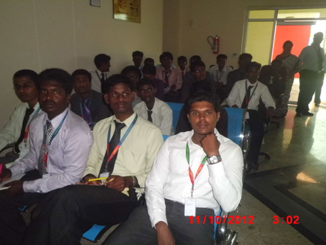 Industrial visit by MBA students on 11 Oct 2012