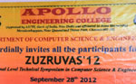 Zuzruvas 2012-  A National Level Technical Symposium, organized by Dept of CSE, on 28 Sep 2012