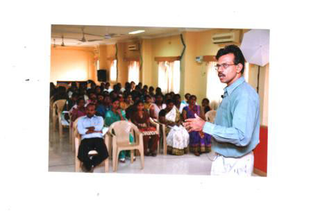 Guest Lecture on 'Wireless Sensor Network' organised by Dept of ECE on 13 Feb 2013