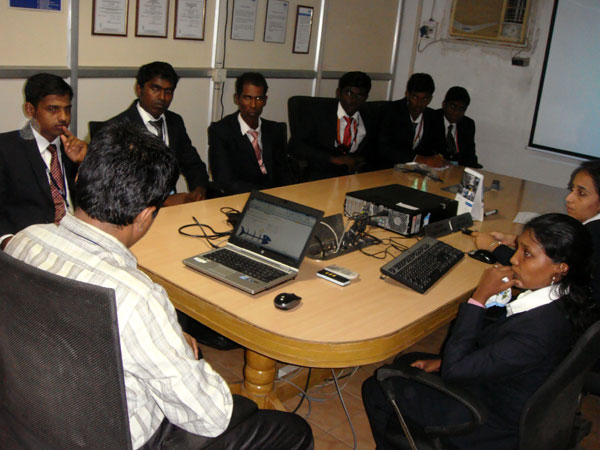 Industrial Visit to Kone Elevator India Pvt Ltd, Ayanambakkam by II year MBA Students, on 14 August 2014