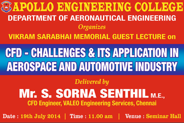 CFD - Challenges & Its Application in Aerospace and Automotive Industry on 19 July 2014