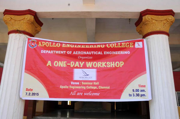 A One Day Workshop AEROBUZZ, Organized by Dept of Aeronautical Engineering, on 07 Feb 2015