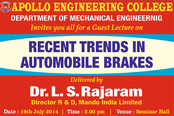 Recent Trends in Automobile Breakes on 19 July 2014