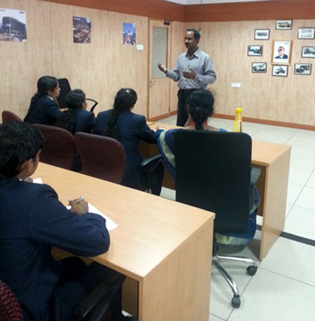 Schwing Stetter India Pvt Ltd - Industrial Visit by II MBA Students on 28 July 2014