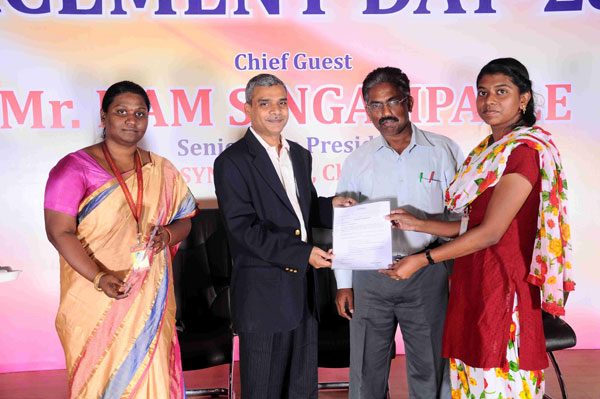Placement Day 2016, Chief Guest Mr.Ram Singampalle, Senior Vice President, Syntel Ltd, Chennai, on 20 Apr 2016