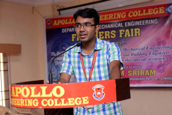 Freshers Fair, organised by Dept of Mechanical, on 13 Jul 2015