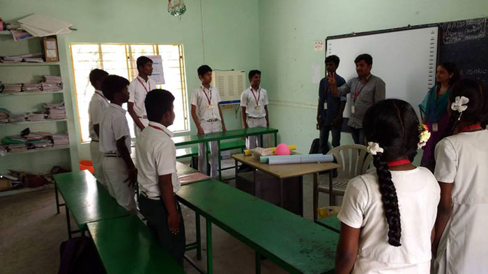 NSS Day Camp to Dr.MGR Home, Ramavaram, on 10 Feb 2017